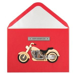 ⚡️5/$30⚡️Papyrus wooden motorcycle, FD card